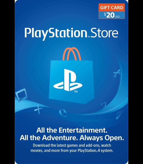 playstation gift card 20 usd USA