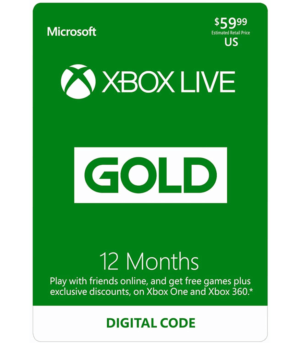 xbox one live gold 12 Meses