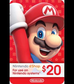 Nintendo Eshop 20 USD